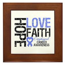 Esophageal Cancer Faith Framed Tile