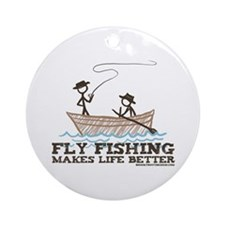 Fly Fishing Life Ornament (Round)