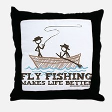 Fly Fishing Life Throw Pillow