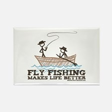 Fly Fishing Life Rectangle Magnet