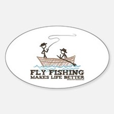 Fly Fishing Life Oval Decal