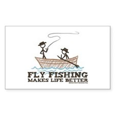 Fly Fishing Life Rectangle Decal