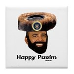 Presidential Purim Tile Coaster