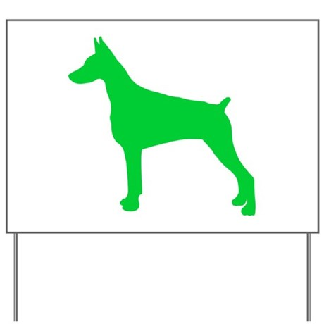 Doberman Pinscher St. Patty's Day Yard Sign