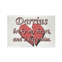 Darrius broke my heart and I hate him Rectangle Ma