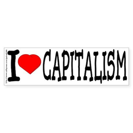 Love Capitalism Bumper Sticker