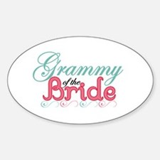 Grammy of the Bride Oval Decal