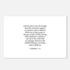 NUMBERS  11:18 Postcards (Package of 8)