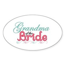Grandma of the Bride Oval Decal