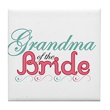 Grandma of the Bride Tile Coaster