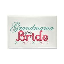 Grandmama of the Bride Rectangle Magnet