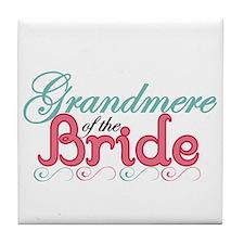Grandmere of the Bride Tile Coaster