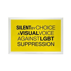Silent By Choice Rectangle Magnet (100 pack)