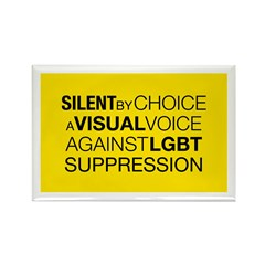 Silent By Choice Rectangle Magnet (10 pack)