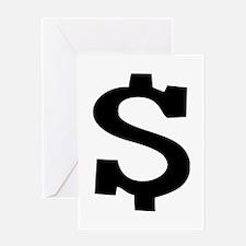 Dollar Sign Greeting Card