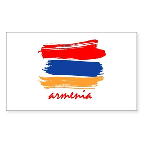 Armenian Flag design Rectangle Sticker