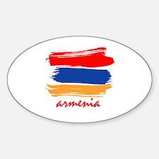 Armenian Flag design Oval Decal