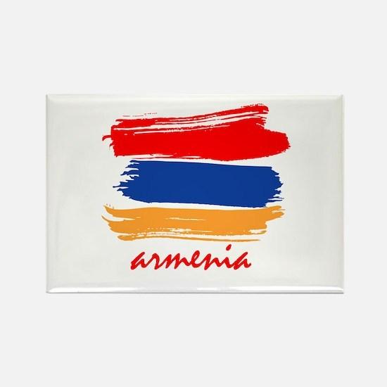 Armenian Flag design Rectangle Magnet