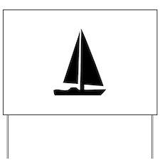 sail boat Yard Sign