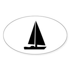 sail boat Oval Decal
