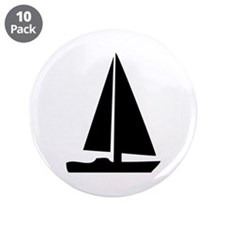 """sail boat 3.5"""" Button (10 pack)"""