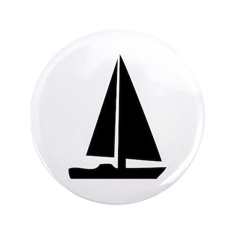 """sail boat 3.5"""" Button"""