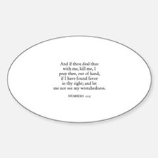 NUMBERS 11:15 Oval Decal