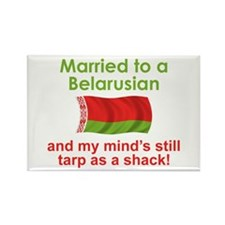 Married To A Belarusian Rectangle Magnet