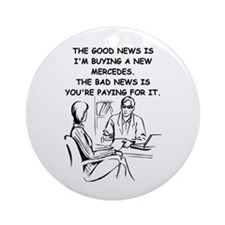 funny physician doctor surgeo Ornament (Round)
