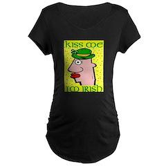 Kiss Me I'm Irish Maternity Dark T-Shirt