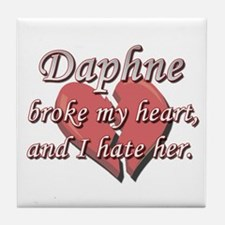 Daphne broke my heart and I hate her Tile Coaster