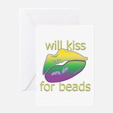 Kiss for Beads Greeting Card