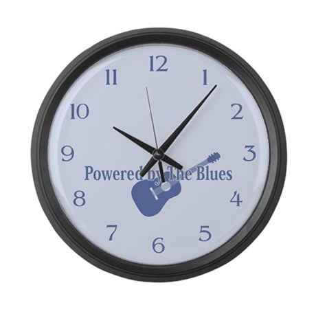 Blues Power Large Wall Clock