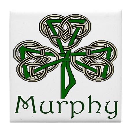 Murphy Shamrock Tile Coaster