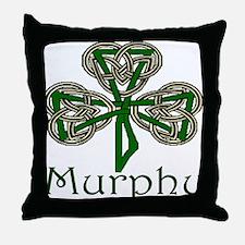 Murphy Shamrock Throw Pillow