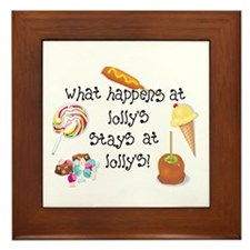 What Happens at Lolly's... Framed Tile
