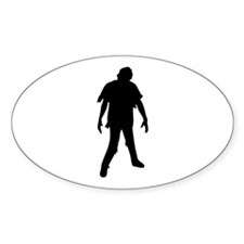 horror movie zombie Oval Decal
