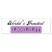 World's Greatest Lolly Bumper Bumper Sticker
