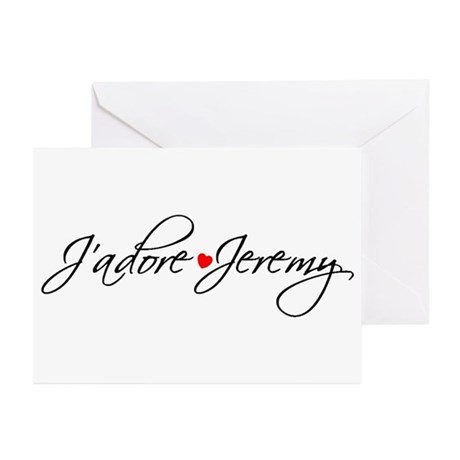 J'adore Jeremy Designs Greeting Cards (Pk of 20)