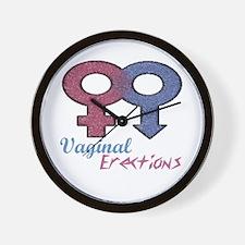 Vaginal Erections Wall Clock
