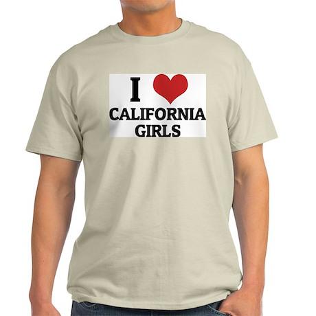 I Love California Girls Ash Grey T-Shirt