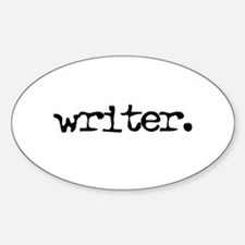 writer. Oval Bumper Stickers