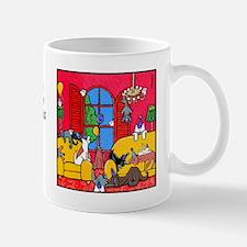 Dog, Cat, Party Animals Mug