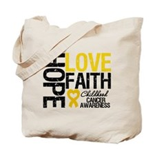 Childhood Cancer Faith Tote Bag