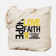 Childhood Cancer Faith Tote Bag
