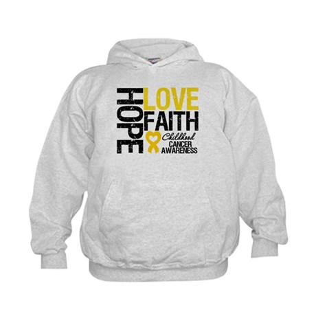 Childhood Cancer Faith Kids Hoodie