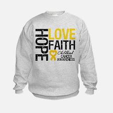 Childhood Cancer Faith Sweatshirt