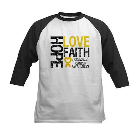 Childhood Cancer Faith Kids Baseball Jersey