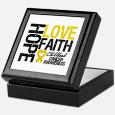 Childhood Cancer Faith Keepsake Box