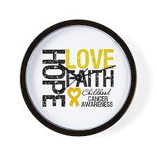 Childhood Cancer Faith Wall Clock